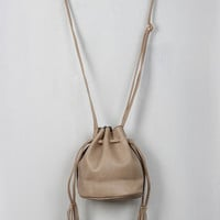 Small Drawstring Bucket Bag