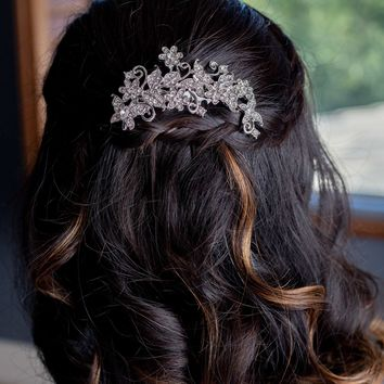 Gold or Silver Leaf Bridal Hair Comb