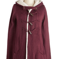 ModCloth Rustic Mid-length Long Sleeve Hoodie Toggles the Mind Cardigan