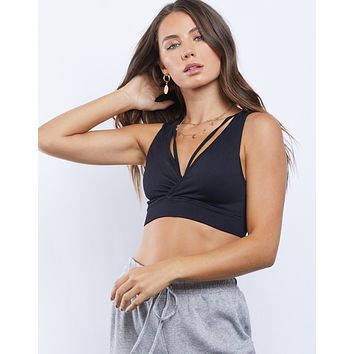 Criss Crossed Strappy Cropped Tank