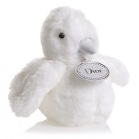 Ivory 'Eden' Bird Soft Toy with Dior Tag in a Gift Bag (15cm)