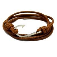 Retro Rope Fish Hook Bracelet