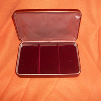 Vintage jewelry box made of leather 1960's