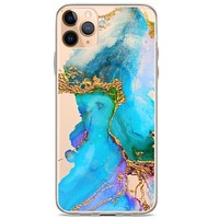 Abstract Liquid Clear Phone Case