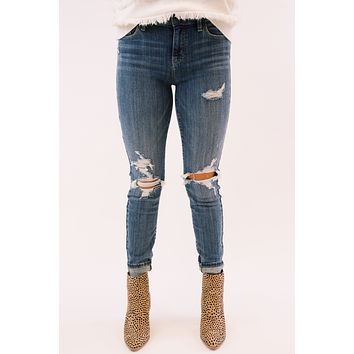Jude Mid Rise Skinny Ankle Jeans, Bittersweet
