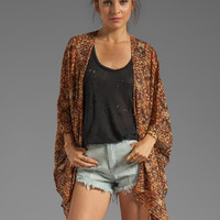 RVCA McMurphy Printed Cover-Up in Blood Orange from REVOLVEclothing.com
