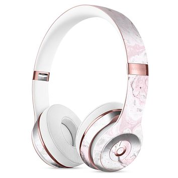 Mixtured Pink and Gray v4 Textured Marble Full-Body Skin Kit for the Beats by Dre Solo 3 Wireless Headphones