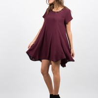 Contrast Babydoll Dress