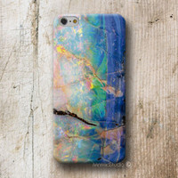 Opal Blue Rock Print Phone Case For iPhone 4 4s 5 5s 5c 6 6s Plus Moto G2