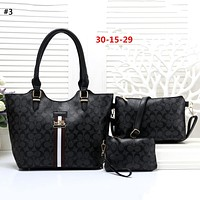 COACH 2019 new female retro tote bag large capacity mother bag shoulder bag three-piece #3