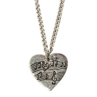 LOVEsick Music Notes Heart Necklace