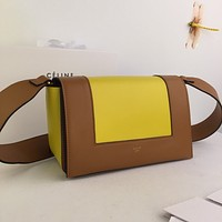 Celine Women Leather Shoulder Bag Satchel Tote Bag Handbag Shopping Leather Tote Crossbody Satchel Shouder Bag