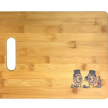 """""""Russian Roulette"""" Randy Otter Funny Humor 3D COLOR Printed Bamboo Cutting Board - Wedding, Housewarming, Anniversary, Birthday, Mother's Day, Gift"""