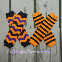 Halloween Leg Warmers, Halloween Leggings, Striped Halloween Leg Warmers, Baby Girl Leg Warmers, Baby Boy Leg Warmers, Baby Halloween Outfit