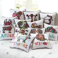 Astrology Organic Pillow Cover