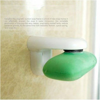 Magnetic Soap Holder Prevent Rust Dispenser Adhesion Home Bath Wall Attachment53567