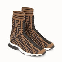 Fendi coloured fabric sports boots