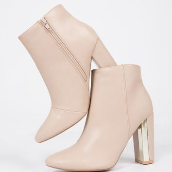 Gold Plated Ankle Boots