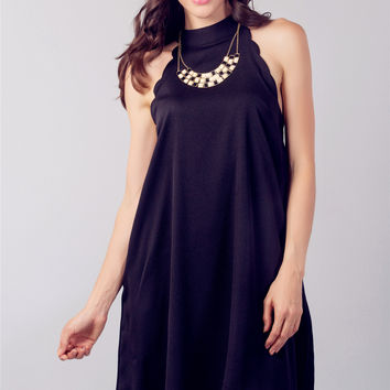 Black Halter SwingDress