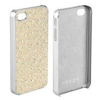 Bling Rhinestone Crystal Glitter Gold Case Cover for iPhone 4 4S
