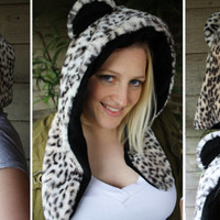 Snow Leopard Hood  - Costume, Halloween