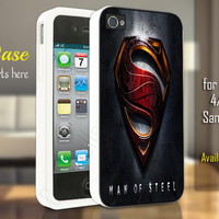 man of steel logo iphone 4/4s/5/5c/5s case, man of steel logo samsung galaxy s3/s4/s5, man of steel logo samsung galaxy s3 mini/s4 mini, man of steel logo samsung galaxy note 2/3