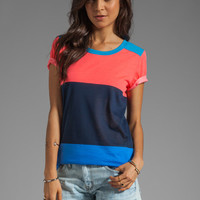 Marc by Marc Jacobs Patsy Stripe Tee in Atomic Blue Multi from REVOLVEclothing.com