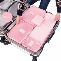 Bag Travel Luggage Shoulder Packing Cube Women Carry Overnight Waterproof 6 Set