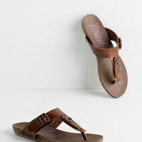 ModCloth Boho Now This is Living Sandal in Bark