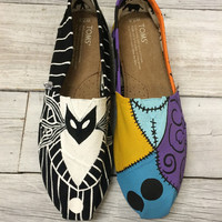 Jack and Sally themed TOMS