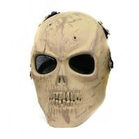 M01 Skull Mask Full Face Airsoft Protector Mask Cacique Soldier Mask Cosplay Halloween Skull Color