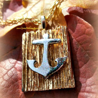 Anchor Away Necklace, Nautical, Sailor, Beach, Direct Checkout, Ready to Ship