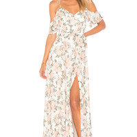 Lovers + Friends x REVOLVE Taylor Gown in White Flore | REVOLVE