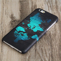 Turquoise World Map iPhone 6 Case,iPhone 6 Plus Case,iPhone 5s Case,iPhone 5C Case,4/4s Case,Samsung Galaxy S5/S4/S3/Note 3/Note 2 Case