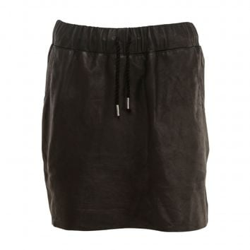 Scalloped Leather Skirt - Cabin & Cove