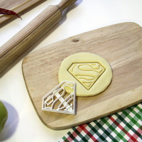 Superman Cookie Cutter Classic Superman Super man Logo Cookie Cutter Cupcake topper Fondant Gingerbread Cutters - Made from Eco Material