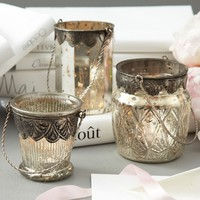Chambord Mercury Glass Tealight Candleholder Set of 3
