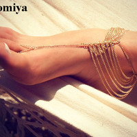 Indian Style Trendy Multi-layers Chains Jewelry Anklets Ankle Bracelets For Women Statement accessories