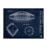 Ebbets Field (Brooklyn Dodgers) Blueprint
