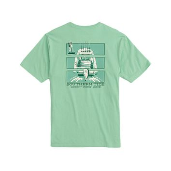 Green Going Gone Triptych Tee Shirt by Southern Tide