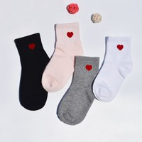 Red Hearts (4 Sock Set)