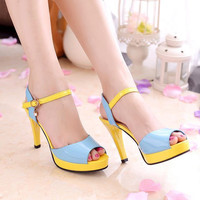 Fish mouth High heels sandals