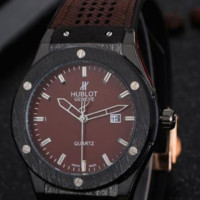 HUBLOT men and women delicate tide brand three-pin laser hole watch F-PS-XSDZBSH Dark coffee wristwatch + black case + dark coffee dial