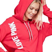 Victoria's Secret PINK Women's Fashion Hooded Long-sleeves Pullover Tops Sweater