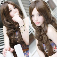4 Colors Womens Girls Sexy Long Fashion Full Hair Wig Wavy Curly Cosplay Accessory Chic Design