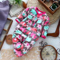Long-sleeve micro-polar fleece jumpsuit
