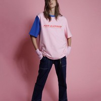 Pink Elephant Color Block Tee | Pink