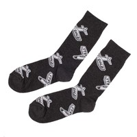 Glider Logo Charcoal Socks - Shop | Benny Gold