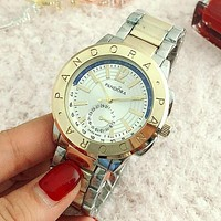 PANDORA Ladies Men Trending Fashion Quartz Watches Wrist Watch Silver+golden G