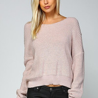Open Back Sweater - Mauve